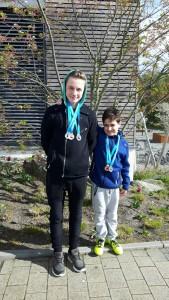 Silber und Bronze für Schwimmer Cedric und Erdi
