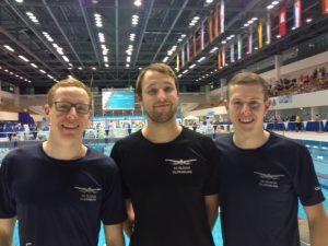 Piet und Veit bei den DKM der Schwimmer