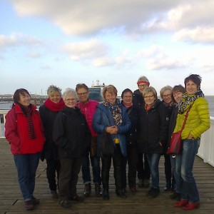 Spaziergang Am 5 Km Langen Strand Vom Nordsee-Heilbad Cuxhaven