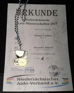 Urkunde Landes-Kata 2017