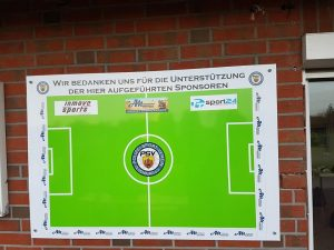 Sponsorentafel in der Fussballabteilung hat noch Plätze frei