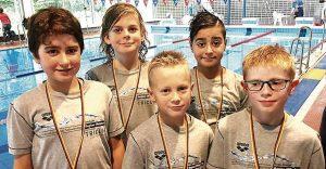 Jugend E gewinnt Schwimm-Mannschaftstitel