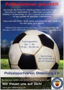 Fußballerinnen gesucht!
