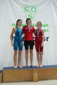 Constanze Huchtkemper gewinnt Bronzemedaille bei denLandeskurzbahnmeisterschaften