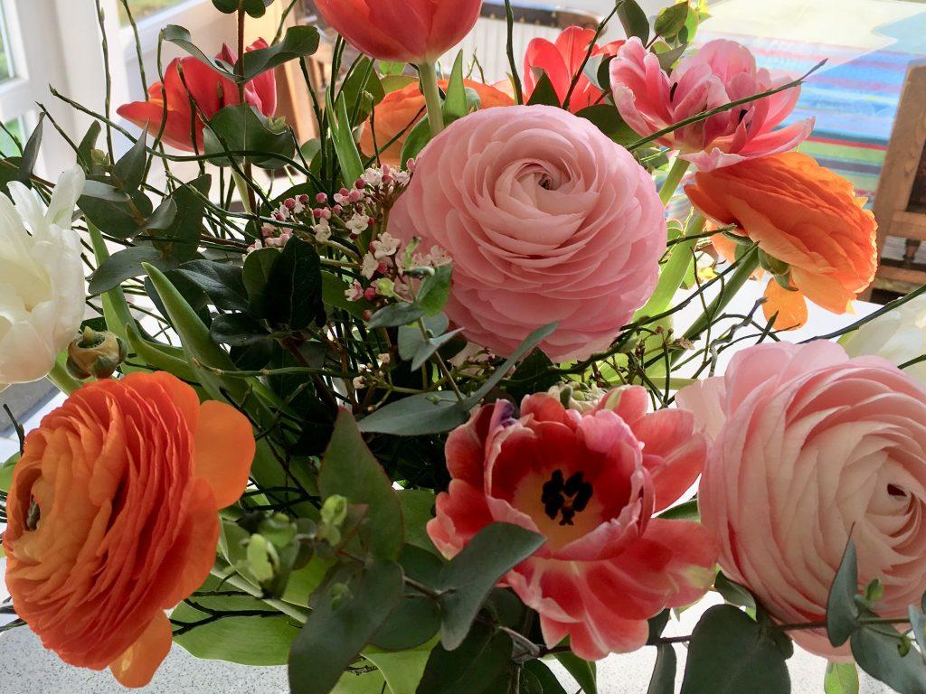 Blumen für den neuen Vorstand: