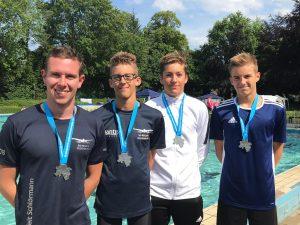 5x Staffelsilber bei den Landesmeisterschaften der Schwimmer