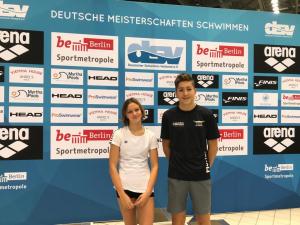 Contanze Huchtkemper und Florian Hüsing bei der DM