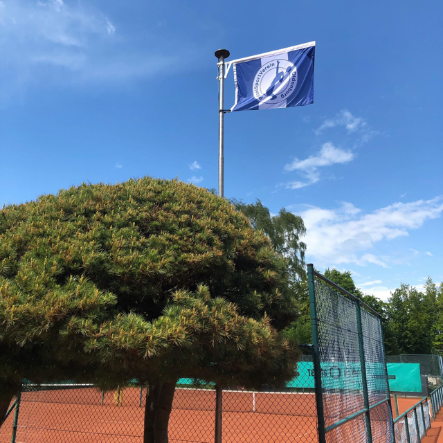 Polizei-SV Flaggt Blau-weiß